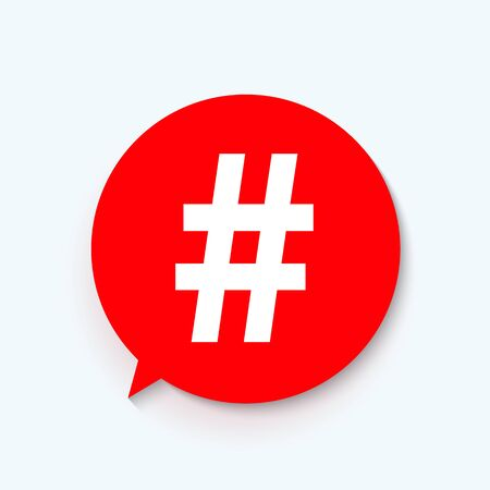 Hashtag icon template design. Vector Illustration EPS10 Illusztráció
