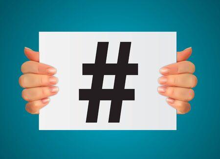 Hashtag icon template design. Vector Illustration EPS10 Illusztráció
