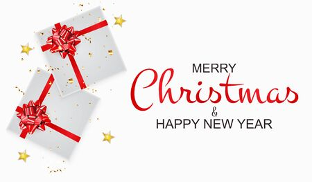 Merry Christmas and New Year Background. Vector Illustration EPS10 EPS10 Standard-Bild - 134628058