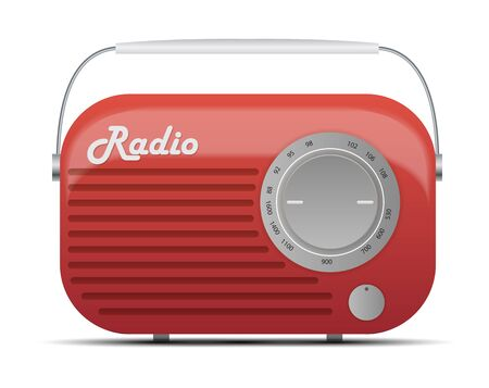 Old Radio Tuner Icon Vector Illustration