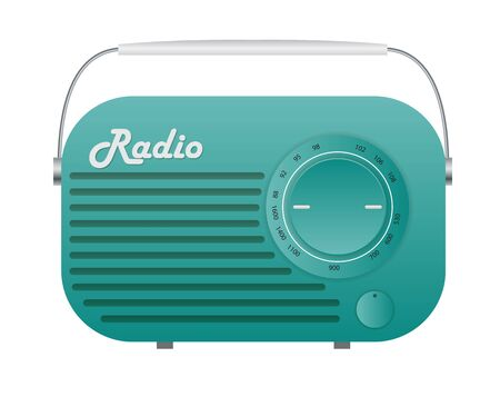 Old Radio Tuner Icon Vector Illustration EPS10