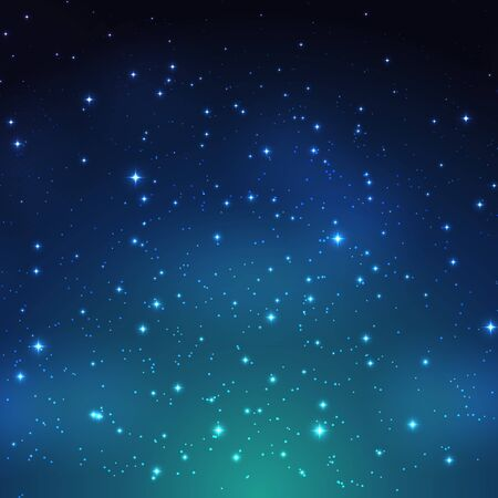 Night shining starry sky background. Vector Illustration EPS10