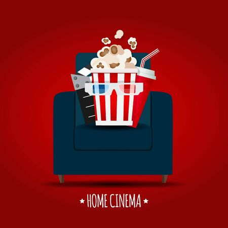 Abstract Home Cinema Background. Vector Illustration Vettoriali