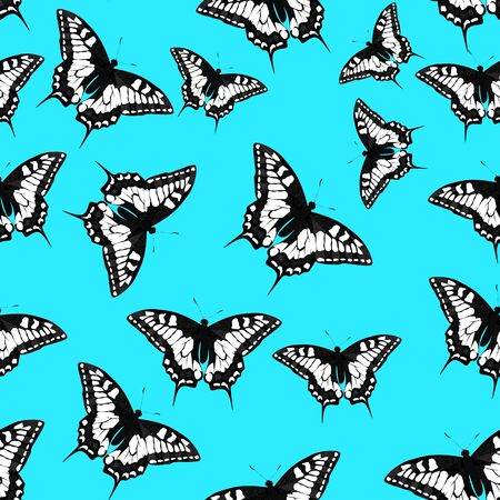 Butterfly Seamless Pattern Background Vector Illustration EPS10