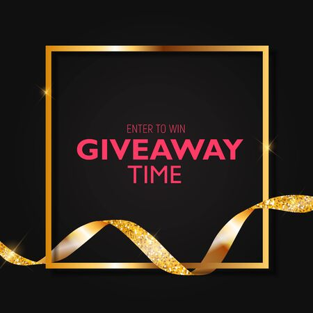Enter to win. Giveaway time. Vector Illustration EPS10