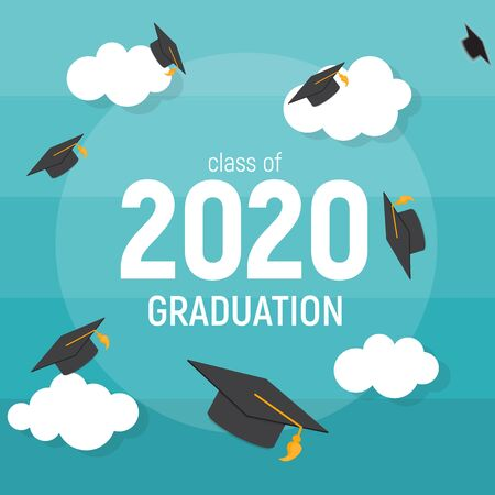 Class of 2020 Graduarion Education Background. Vector Illustration EPS10