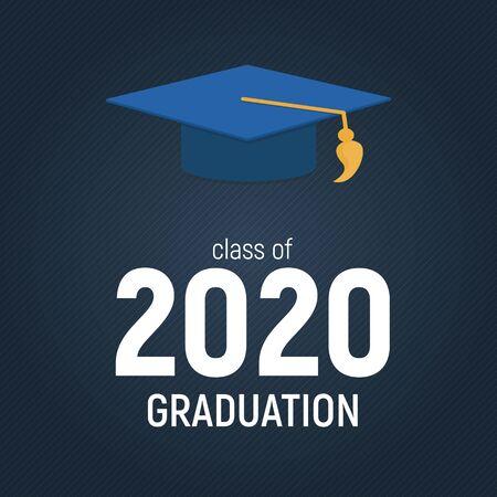 Class of 2020  Graduarion Education Background. Vector Illustration EPS10 Ilustracja