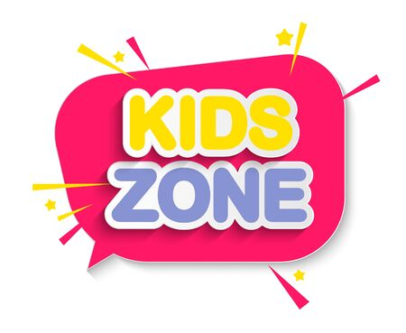 Abstract Kids Zone background. Vector Illustration