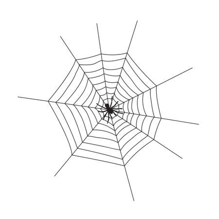 Web silhouette on a white background. Vector Illustration EPS10
