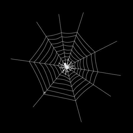 Web silhouette on a dark background. Vector Illustration EPS10