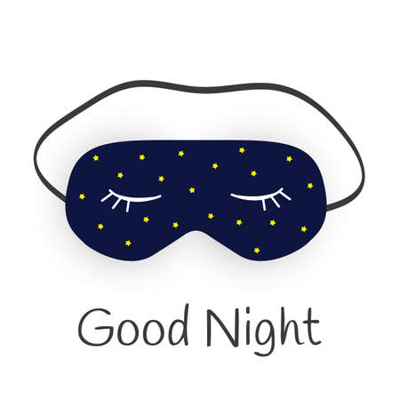 Good Night Abstract Background with Funny Sleeping Mask. Vector Illustration EPS10