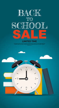 Back to School Special Offer Sale Background. Vector Illustration