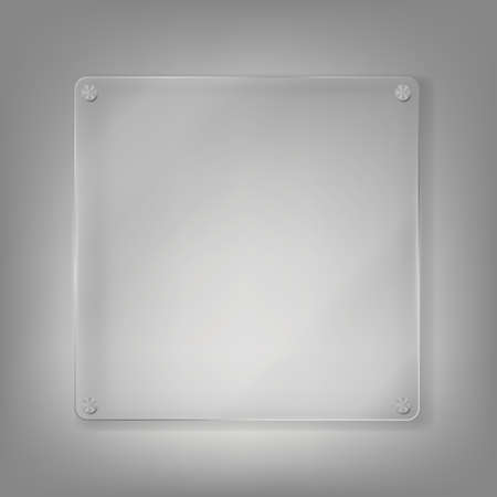 Realistic Glass Frame Background. Vector Illustration