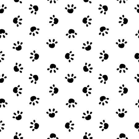 Animal Paw Seamless Pattern Simple Background.