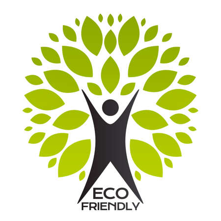 Eco Friendly Tree Simple Abstract Icon. Vector Illustration EPS10