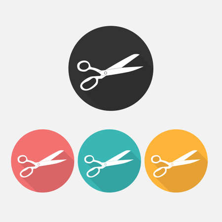 Scissors silhouette Icon Isotared on White Background. Vector Illustration