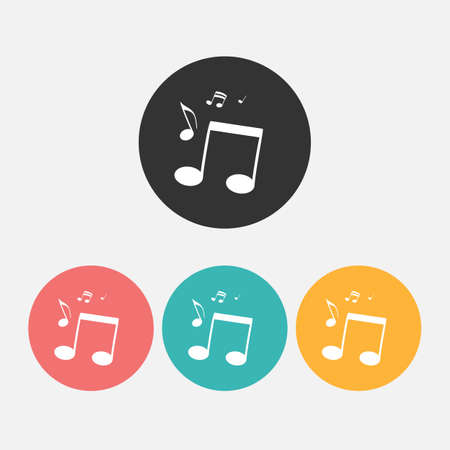 Musical notes Icon. Vector Illustration.