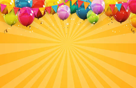 Abstract Holiday Background with Balloons. Can be used for advertisment, promotion and birthday card or invitation. Vector Illustration EPS10 Vektorgrafik