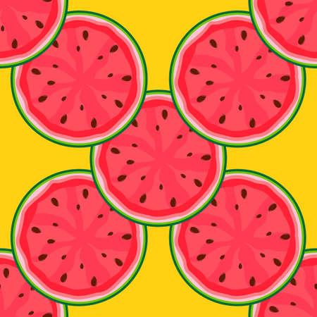 Watermelon SEamless Pattern Background Template. Vector Illustration