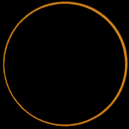 Ring of sun during annular eclipse