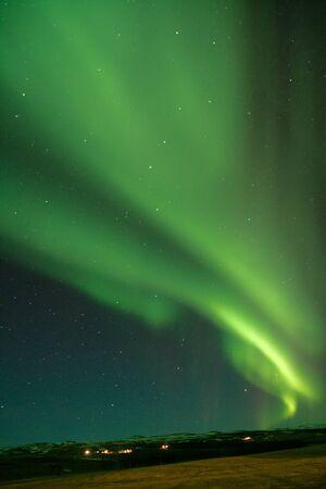Aurora borealis over iceland Reklamní fotografie