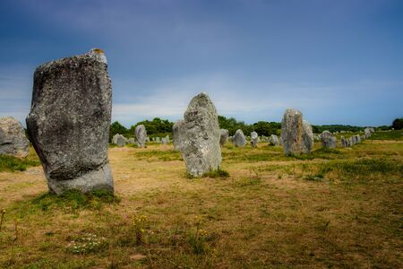 The world longest menhirs alignment is found in Carnac in Brittany