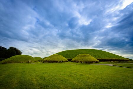 Knowth tumulus in the historical area of Br na Binne