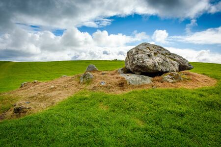 Remnant of a Dolmen in Carrowmore megalithic cemetery Reklamní fotografie