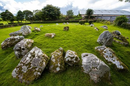 Stone circle in carrowmore cimetery