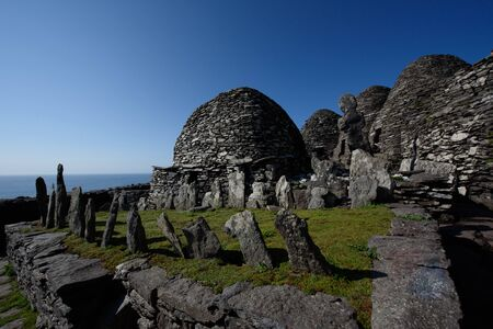 Michael skellig old monks oratory and cimetery