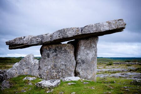 Table top dolmen of Poulnabrone in Clare