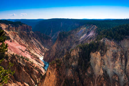 The Yellowstone river and its canyon 写真素材