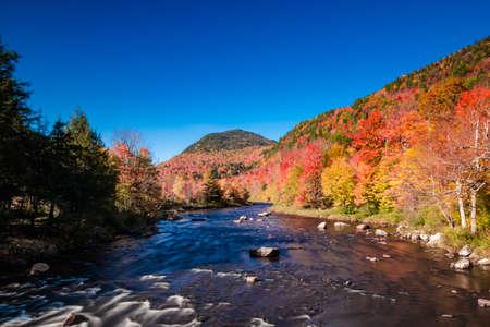 Ausable river near High falls gorge Banco de Imagens