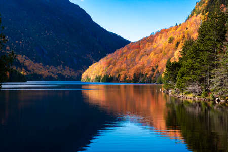 Lower ausable lake color during fall foliage