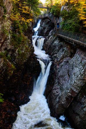 High falls gorge waterfall near Lake Placid