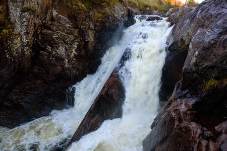 High falls gorge on the Ausable river
