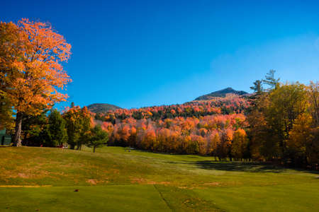 Fall color near Lower Ausable Lake in the Adirondack mountain