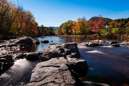 Ausable river near Jay in the Adirondack