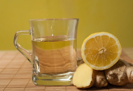 ginger lemon tea photo