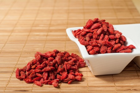 wolfberry: goji berries Chinese wolfberry (Lycium barbarum)