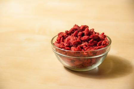 lycium: goji berries Chinese wolfberry (Lycium barbarum)