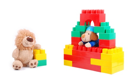 nurseries: Baby toys on a white background