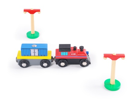 Baby toys on a white background