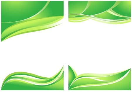 Abstract green backgrounds for brochure Vector