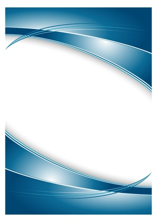 Abstract blue background for brochure Vector