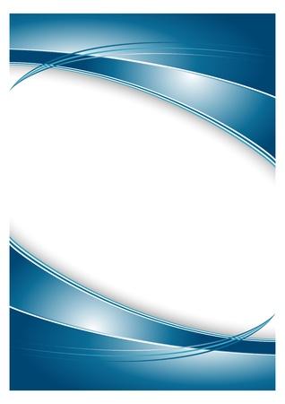 portada de revista: Resumen de fondo azul para el folleto Vectores