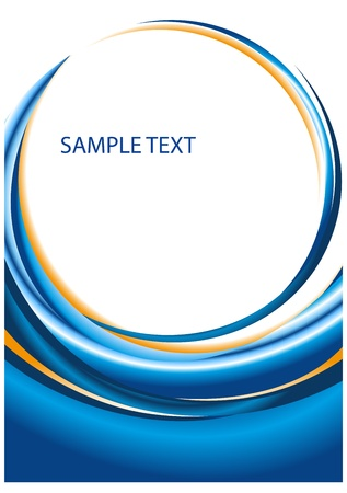 Abstract vector design for brochure