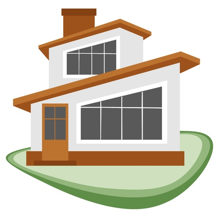 home clipart: An illustration of a house to be used as a symbol or icon