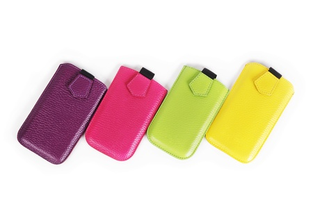 Mobile phone cases isolated on white background