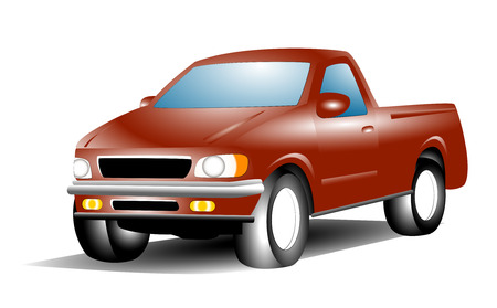 camioneta pick up: Vector de dibujos animados de recogida